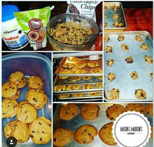 Organic Coconut Sugar Isagenix Whey Protein, Chocolate Chips, Organic Wheat Flour, Organic Eggs, Vanilla Bean