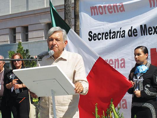 López Obrador estuvo de visita en Los Angeles
