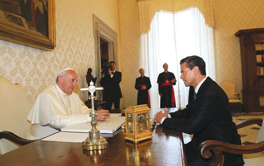 Acepta el Papa Francisco invitación de Peña Nieto para visitar México