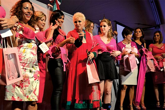 Mujeres visten de Rosa