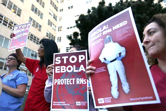 La expansión del ébola California examinará caso por caso a los médicos que vuelvan de África