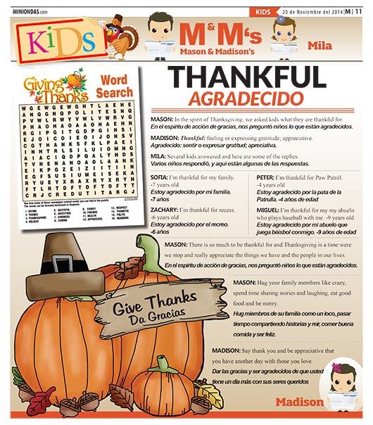 Thankful/Agradecido