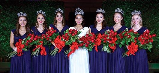 La Corte Real del  Torneo de las Rosas