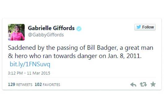 Muere el héroe que ayudó a salvar a Gabrielle Giffords
