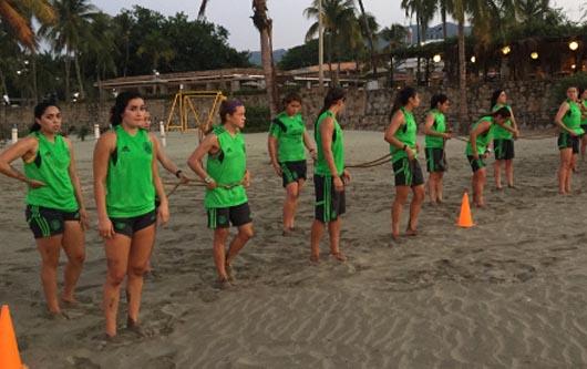 La Selección Nacional Femenil en Acapulco