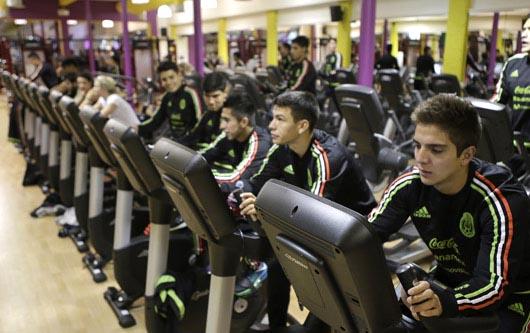 La Selección mexicana  Sub-20 en preparacción